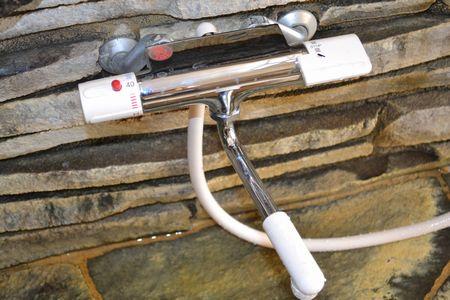新しいシャワーの蛇口 温度調整もスムーズです!